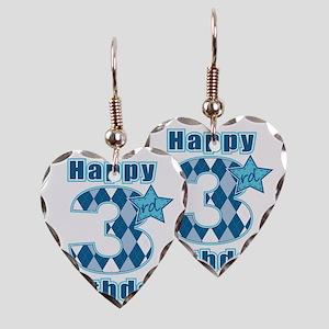 Happy 3rd Birthday! Earring Heart Charm