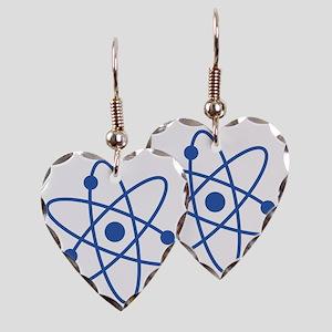 Blue Atom Earring Heart Charm