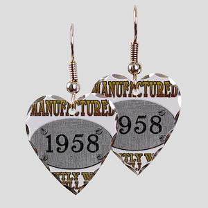 1958 Earring Heart Charm