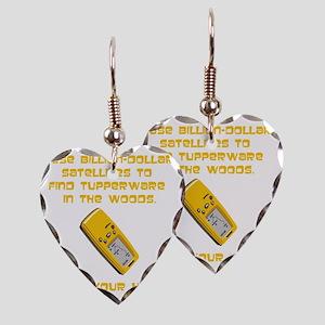 GeoCache Tupperware Yellow Earring Heart Charm