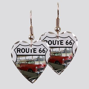 Route 66 Museum - Clinton, OK Earring Heart Charm