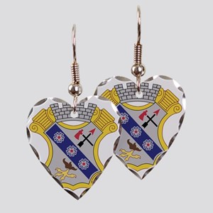 8th Infantry Regiment Patch Earring Heart Charm
