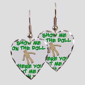 Show Me On The Doll Earring Heart Charm