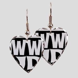 W W J D Earring Heart Charm