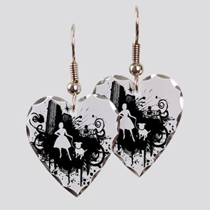 Urban Girl and Dog Final1 whit Earring Heart Charm