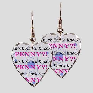 Big Bang Theory Knock Knock Kn Earring Heart Charm