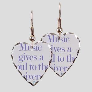 Music gives soul Earring Heart Charm