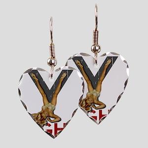 V8 ENGINE Earring Heart Charm