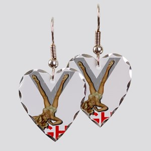 V8 ENGINE DARK copy Earring Heart Charm