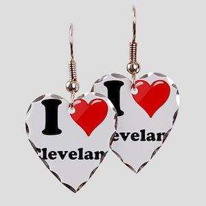 I Heart Love Cleveland Earring Heart Charm