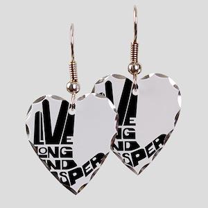 live long and prosper Earring Heart Charm