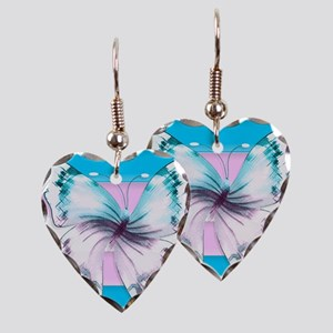 Transgender Butterfly Of Earring Heart Charm