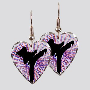 Kicker Girl Earring Heart Charm