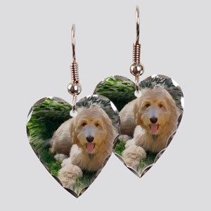 Goldendoodle Earring Heart Charm