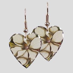 modern vintage fall magnolia f Earring Heart Charm