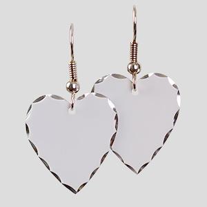 420_White Earring Heart Charm