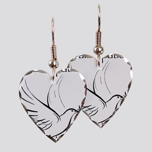 patient not criminal black Earring Heart Charm