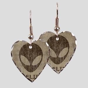 Vintage Alien Earring Heart Charm