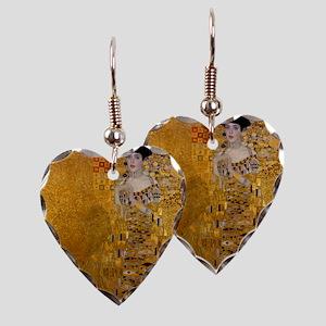 Portrait of Adele Bloch-Bauer Earring Heart Charm