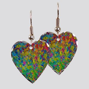 Rainbow Fields Earring Heart Charm