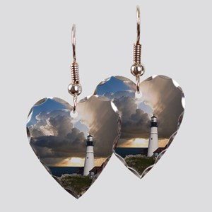 Lighthouse Lookout Earring Heart Charm