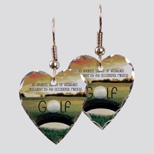 The Miracle of Golf Earring Heart Charm