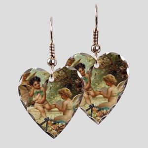 Victorian Angels by Zatzka Earring Heart Charm