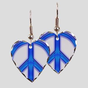 peaceGlowBlue Earring Heart Charm