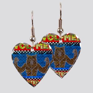 WOLFMEN FROM OUTER SPACE - RED Earring Heart Charm