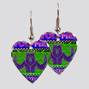 WOLFMEN FROM OUTER SPACE - BLU Earring Heart Charm