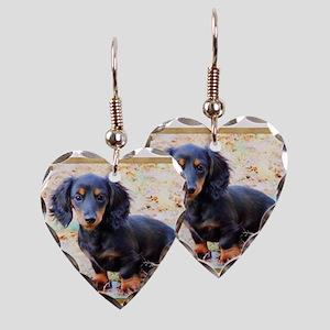 Puppy Love Doxie Earring Heart Charm