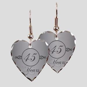 45th Anniversary Earring Heart Charm