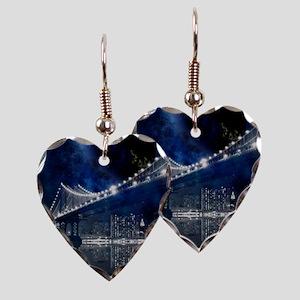 New!! New York City Earring Heart Charm
