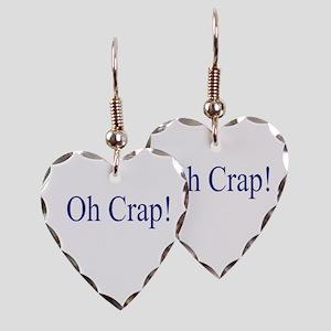 Oh Crap Earring Heart Charm