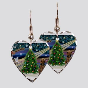 Xmas Magic & Airedale (#1) Earring Heart Charm