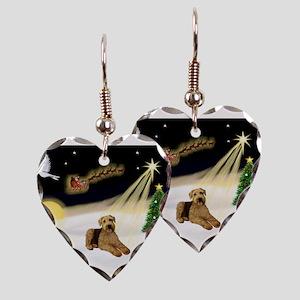 Night Flight/Airedale #5 Earring Heart Charm