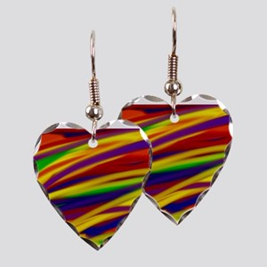 Gay rainbow art Earring Heart Charm