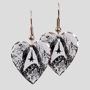 Star Trek Insignia Art Earring Heart Charm