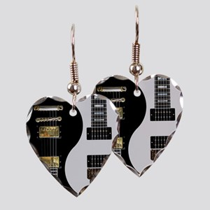 Yin Yang - Guitars Earring Heart Charm