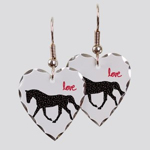 Horse with Hearts Earring Heart Charm