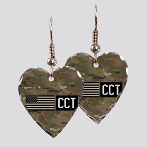 U.S. Air Force: CCT (Camo) Earring Heart Charm