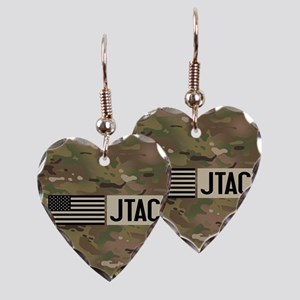 U.S. Air Force: JTAC (Camo) Earring Heart Charm
