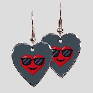 Heart Sunglasses Emoji Earring Heart Charm