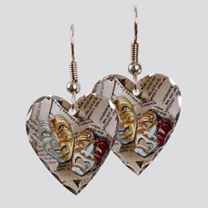 dramamasks2-tile Earring Heart Charm
