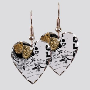 actress1 Earring Heart Charm