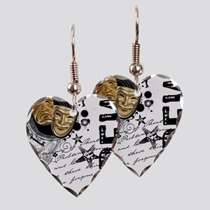 crew1-theatre Earring Heart Charm
