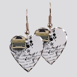 writer2 Earring Heart Charm