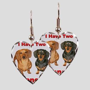 Two Wieners Earring Heart Charm