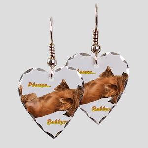 Bellyrub Doxie Earring Heart Charm