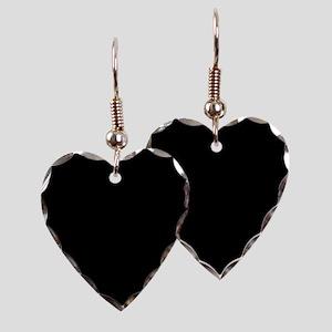 Solid Black Earring Heart Charm